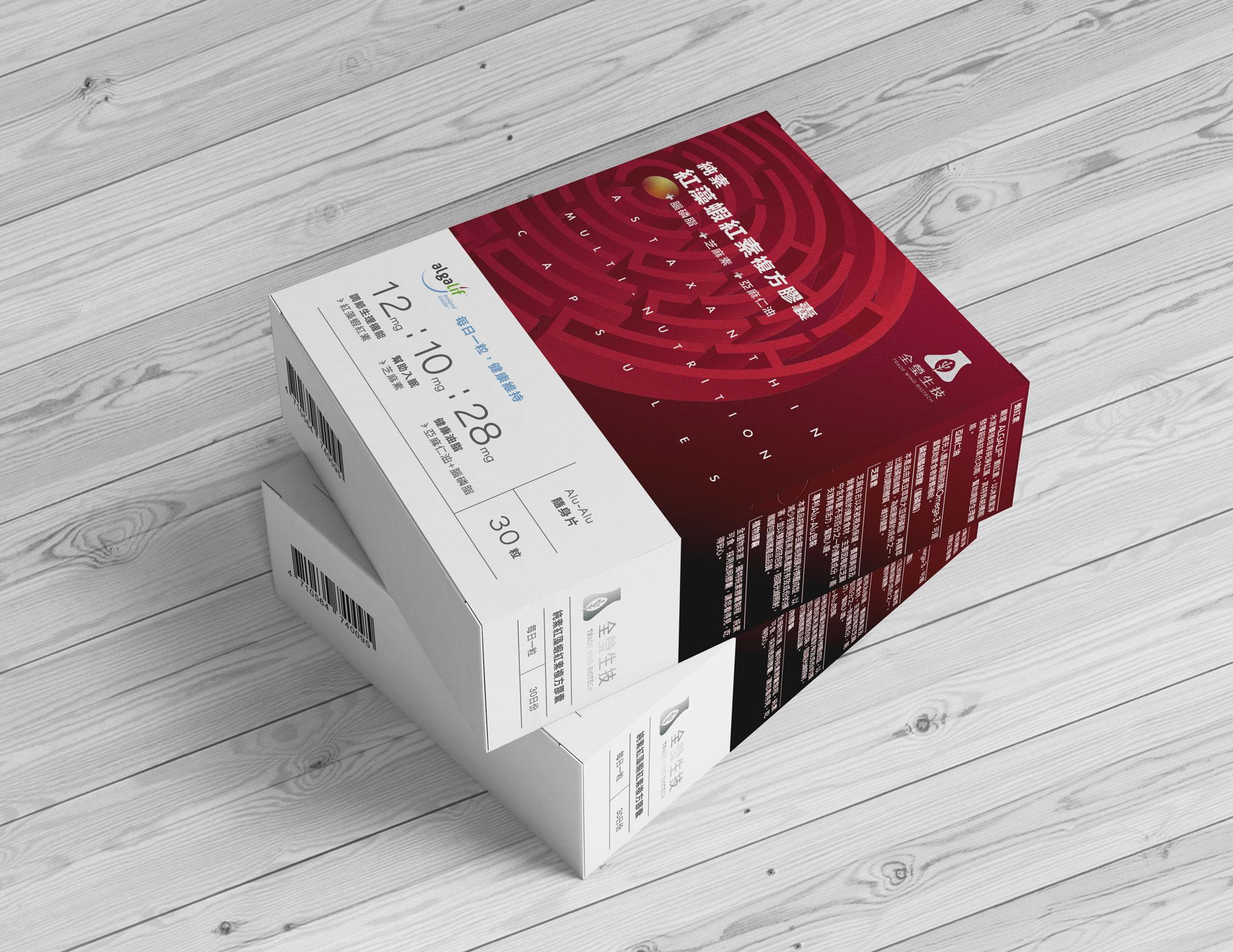 純素蝦紅素複方膠囊<br>Vegan Astaxanthin Multi-nutrition capsules<br>【30粒/盒】