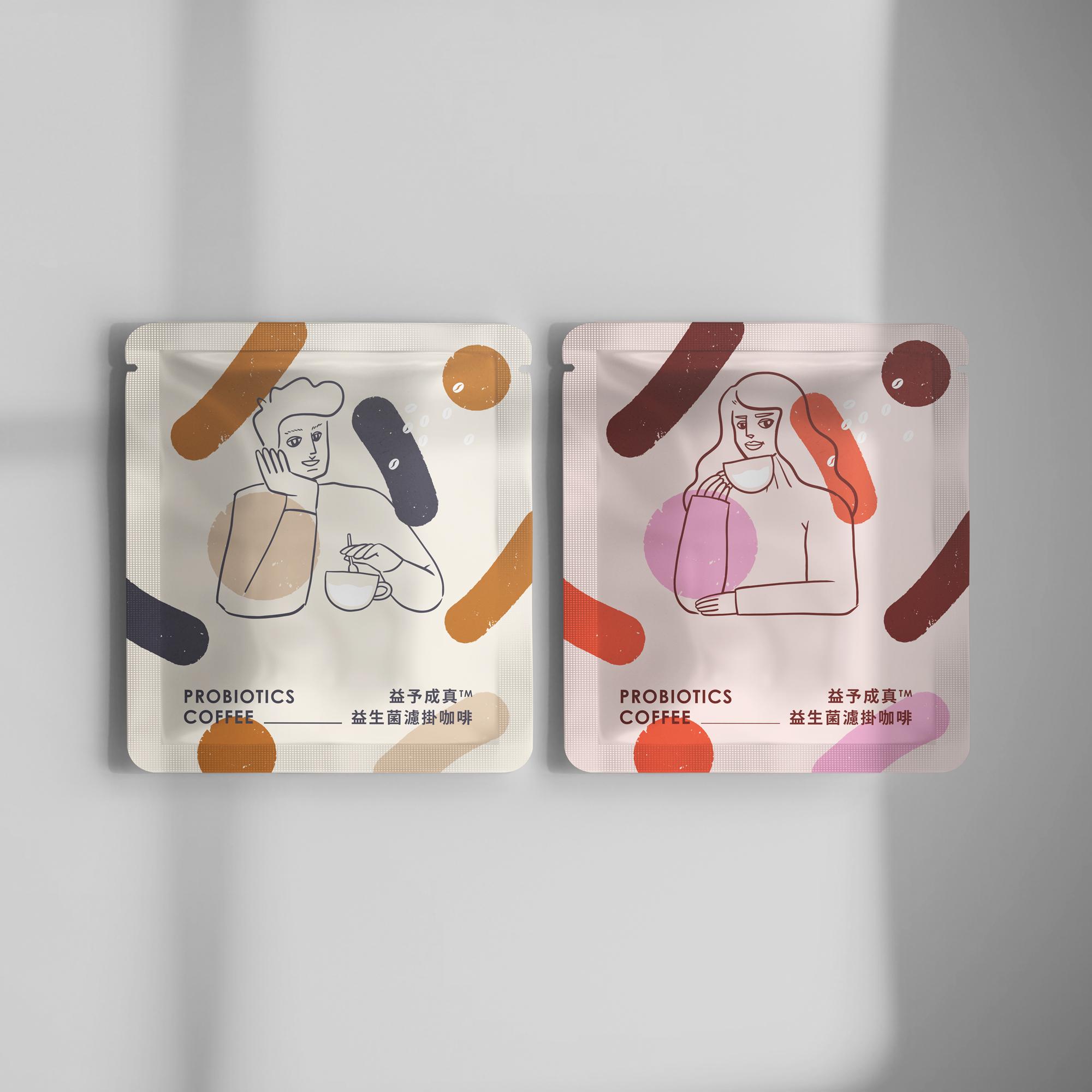 益予成真 益生菌濾掛咖啡<br>(兩種風味各半) <br>單包販售(無盒子)